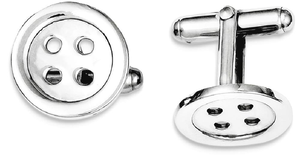 ICE CARATS 925 Sterling Silver Button Cuff Links Mens Cufflinks Man Link Fine Jewelry Dad Mens Gift Set