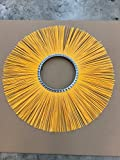 M-B Tough Brush - 32'' x 10'' Flat Poly Wafers with Spacers. Replacement brushes for various sweeping brooms and machines.