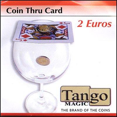 Coin thru Card 2 Euro by Tango by Tango Magic