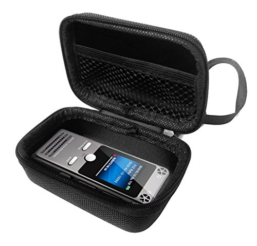 FitSand Hard Case for TOOBOM Digital Voice Sound Audio Recorder Dictaphone Tape Recorder Travel Zipper Carry EVA Best Protection Box