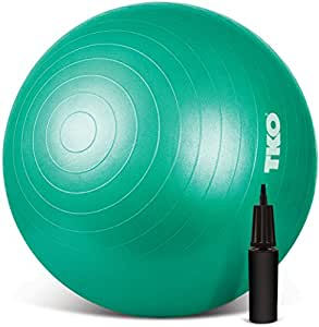 TKO Anti-Burst Exercise Stability Ball with Pump, 65cm, Green