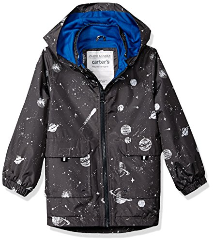 - Carter's Toddler Boys' His Favorite Rainslicker Rain Jacket, Grey Space Print, 2T