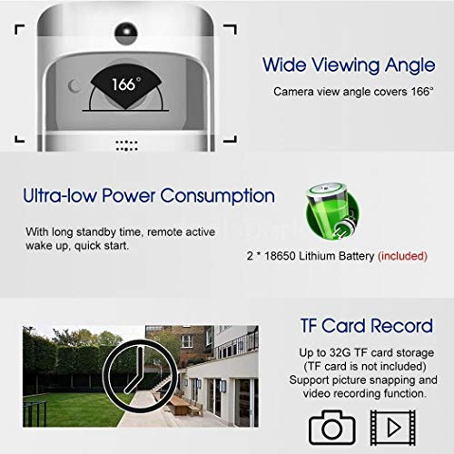 Bluefringe WiFi Smart Video Doorbell Camera Wireless Door Bell 720P HD Wireless Home Security Doorbell Camera with 32GB Storage Card(Not Included) by Bluefringe (Image #5)