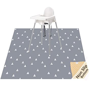Kids Baby Highchair High Chair Floor Splash Spill Splat Mat Anti Slip