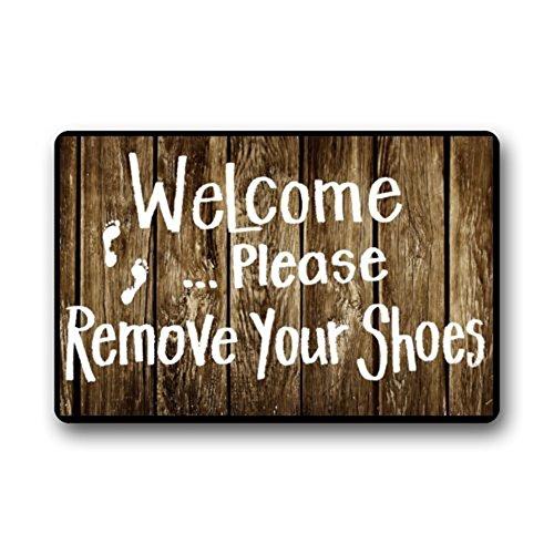 Custom Door Mats Funny Words Take Your Shoes off Please Indoor/Outdoor Doormat Indoor/Outdoors Decor Mat Rugs