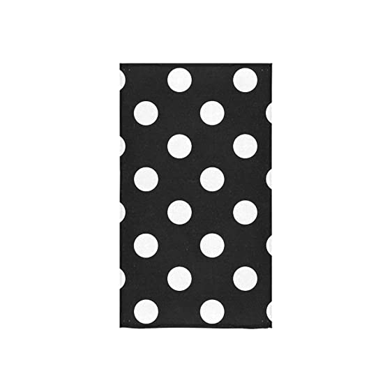 black and white bath towels. InterestPrint Black And White Polka Dot Hand Towel Bath Towels For Home, Outdoor Travel S