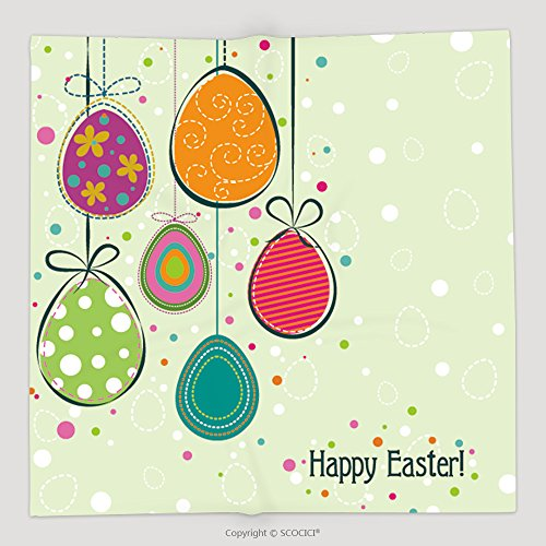 Custom Template Easter Greeting Card, Vector Soft Fleece Throw Blanket