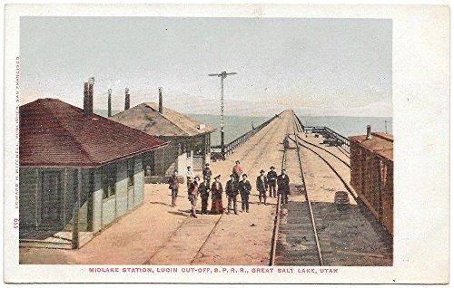 tion Lucin Cut-Off S.P. Railroad in Great Salt Lake UT~99757 ()