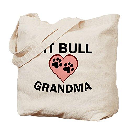 CafePress–Pit Bull Grandma–Gamuza de bolsa de lona bolsa, bolsa de la compra