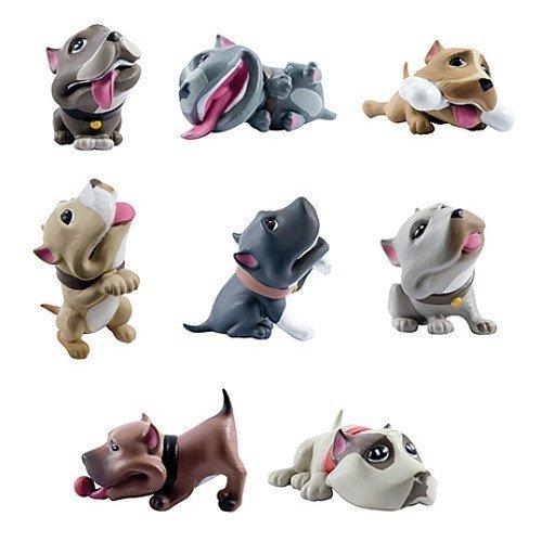 Homies Bullyz Pit Bull Figures ~ 3D Figurines Set of 8