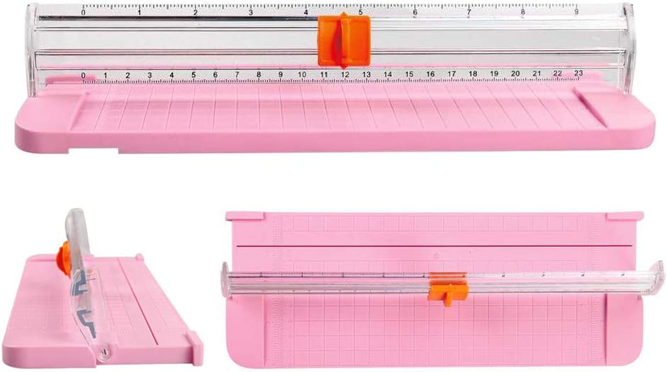housesweet Strumento di scrapbooking per taglierina di schede A4 con taglierina di carta a ghigliottina con righello laterale per carta artigianale