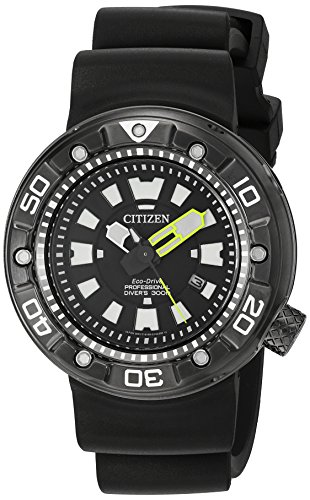 Citizen Men's 'Promaster Diver' Quartz Stainless Steel and Polyurethane Diving Watch, Color:Black (Model: BN0175-19E) (Ecko Quartz)