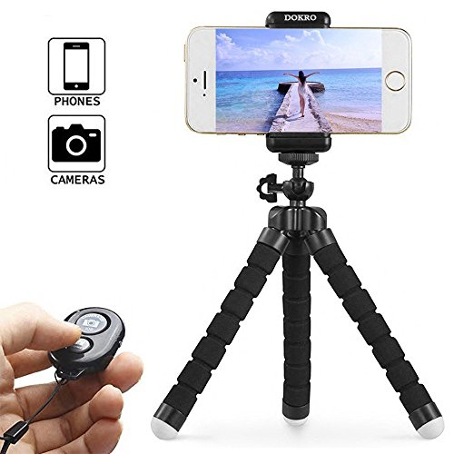 Cheap Selfie Sticks & Tripods DOKRO iphone Tripod Mini Cell Phone Tripod with Universal Clip and Remote..