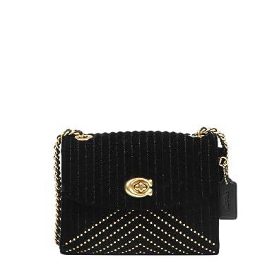 0393cbeb9b COACH Women s Parker 18 Shoulder Bag in Quilting B4 Black One Size   Handbags  Amazon.com