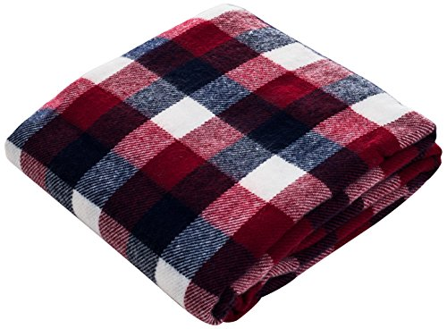 (Lavish Home Throw Blanket, Cashmere-Like, Red/Blue/White)