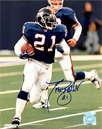 Tiki Barber Autographed Photo - 8x10 Image #17 - Autographed NFL Photos ()