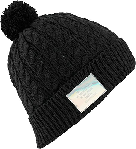 Burton Mini Cable Beanie, True Black, One - Mini Burton