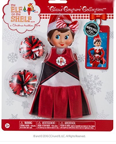 [The Elf on the Shelf Claus Couture Spirited Cheer Gear] (Cheerleader Outfit For Sale)