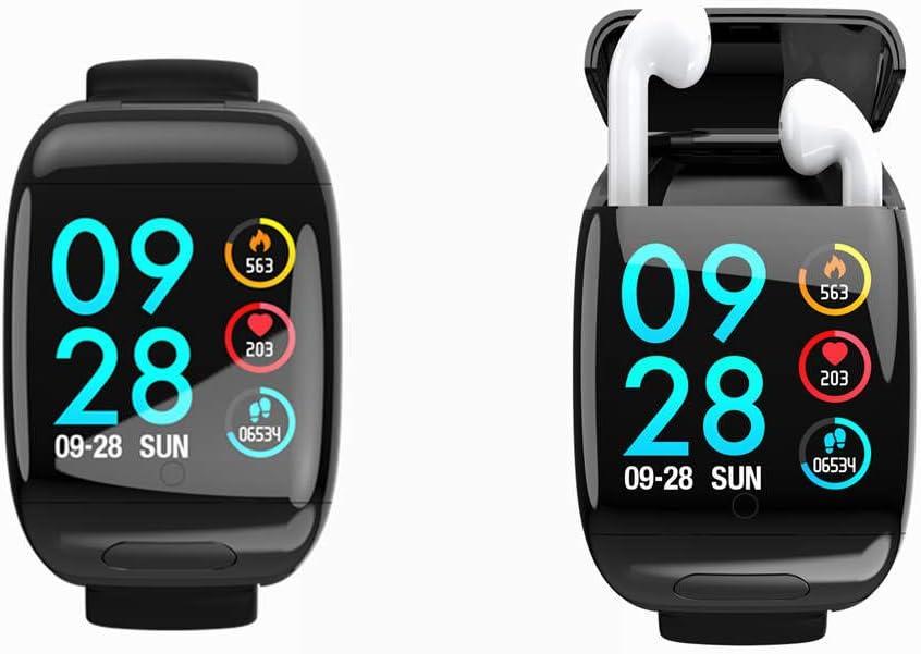 Smart Watch with Bluetooth Earbuds Wireless Earphone Fitness Tracker Heart...