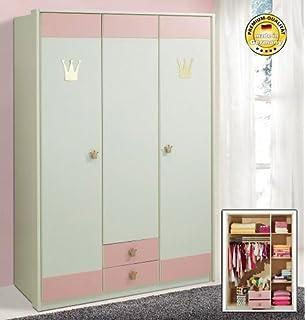 kinder kleiderschrank weiss rosa lilith pharao24: amazon.de: küche ... - Kleiderschrank Kinderzimmer Weis