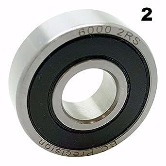 26 x 10 x 8mm 2-PACK Wheels Manufacturing Cartridge Bearings 6000 2RS