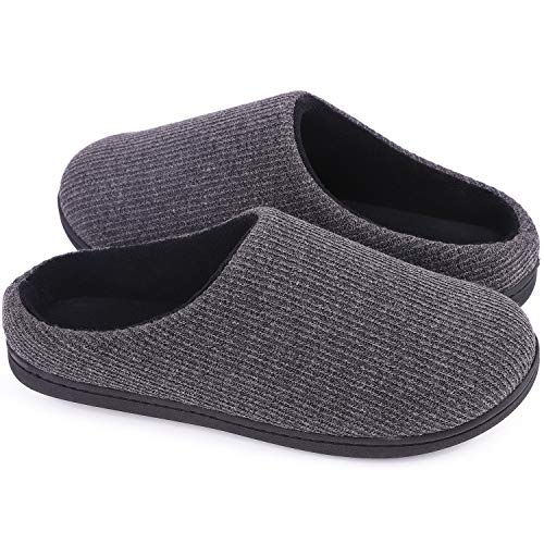 Femme De Grau Sur Les Confort Dames Garnitures Chaussures Mémoire Hometop Doux Dunkel Laine Pantoufles Glisser Sabots gqSpp7