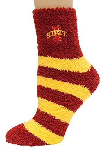 Donegal Bay NCAA Iowa State Cyclones Argyle Fuzzy Socks, One Size, Red ()