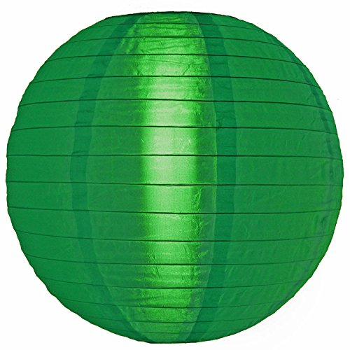 PaperLanternStorecom-14-Dark-Green-Nylon-Lantern-Durable-Hanging-Decoration