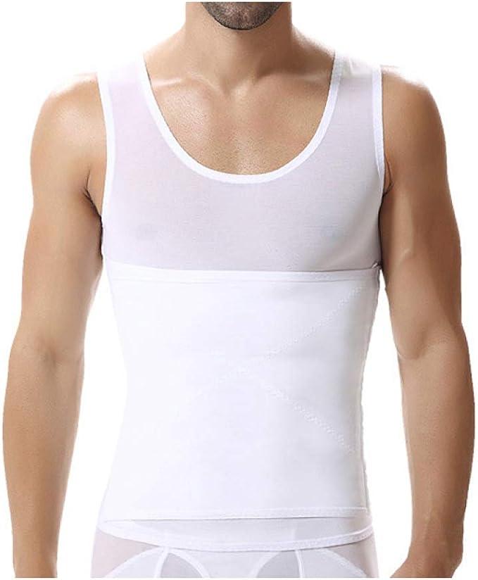 AMURAO Hombre Cuerpo Faja Cintura Trimmer Cinturón Ajustable Chaleco Adelgazante Camisa para Perder Peso Faja: Amazon.es: Ropa y accesorios
