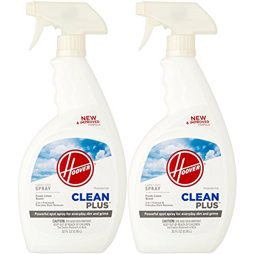 Hoover AH30600NF Heavy Duty Spot Spray Carpet Cleaner & Deodorizer, CleanPlus Formula, 32 oz, 2-Pack