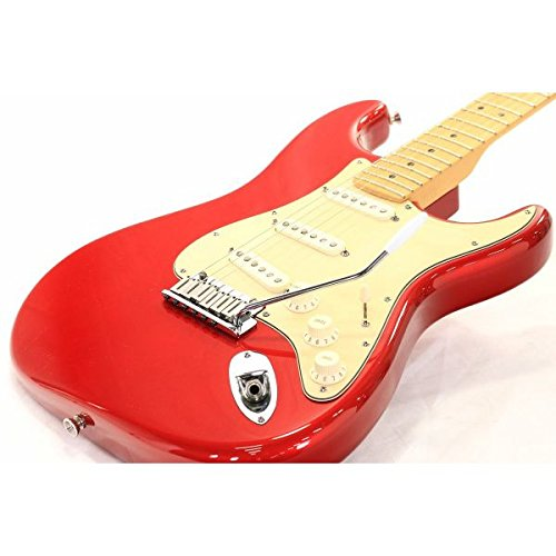 Fender USA/American Standard Stratocaster Chrome Red Maple B07CQWSWW7
