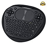 Mini Wireless Keyboard with Touchpad Mouse Combo for HDPC PC Android, PAD, XBox 360, PS3, Google Android TV Box, HTPC, IPTV ,Raspberry Pi 3 (Black)