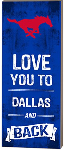 KH Sports Fan 7''X18'' Southern Methodist Mustangs Love You To College Logo Plaque by KH Sports Fan (Image #2)