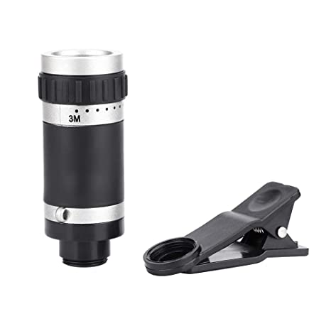 Alomejor Telescopio monocular 8x18 Mini Travel Cellphone Telescopio monocular Teleobjetivo con Clip para Concierto de Conferencia Disparo Remoto