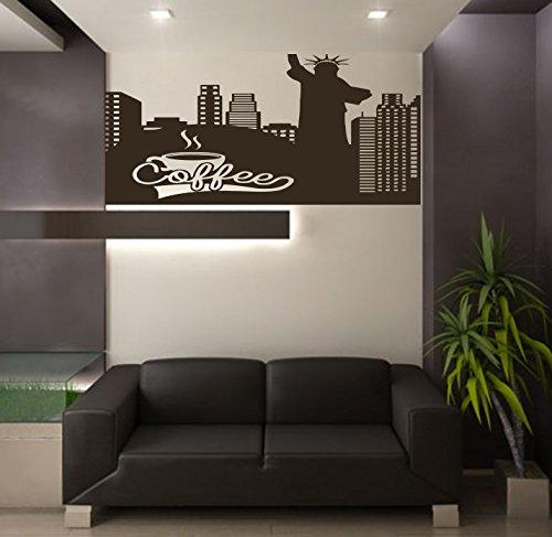 NY LA ESTATUA DE LA LIBERTAD de Nueva York Paisaje City Café habitación de los niños los niños elegante pared arte...