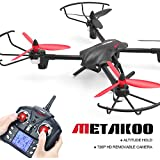 METAKOO Big Drone with Camera Altitude Hold, D1 Quadcopter Drone with 2.0MP HD Camera, 2.4G 4CH 6 Axis Remote Control Helicopter, Headless Mode, 3D Flip Toy Drone for Gift (D1New)