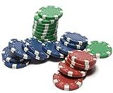 1/2 Sheet - Casino Poker Chip Stack Birthday - Edible Cake/Cupcake Party Topper