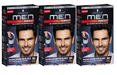Schwarzkopf Men Perfect Gentle Colour Gel Natural Medium Brown 80