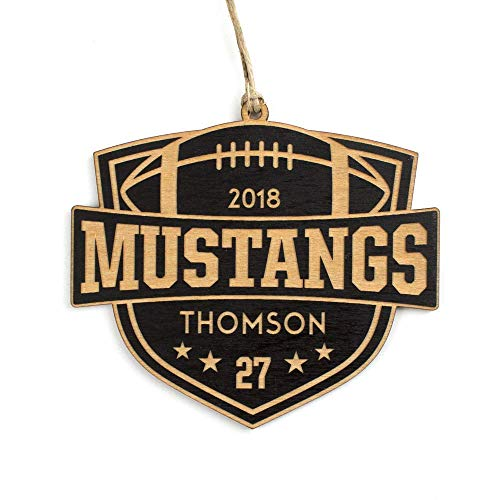 Personalized Football Ornament, Team & Player Gift ()