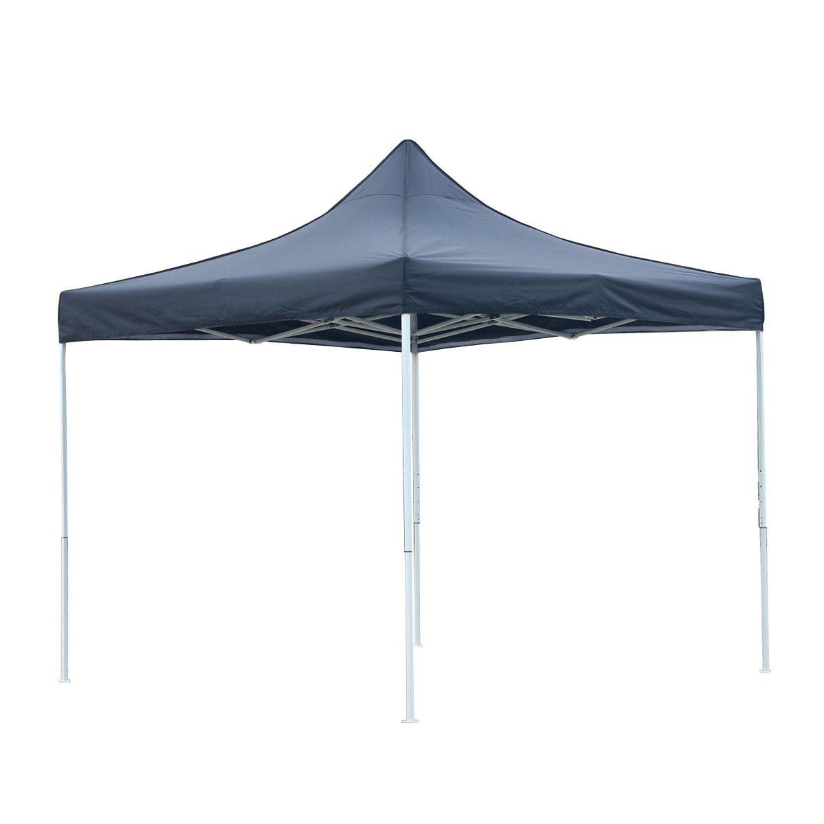 Patio Commercial Canopy White Steel Frame Heavy Duty Pop Up Party Festival Instant Shelter Canopy (10 x 10 Feet, Black)
