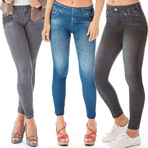 4 x 1 SLENLUX JEGGINGS pantaloni rimodellanti