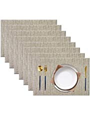 BeChen Placemats,Washable Easy to Clean Woven Vinyl Kitchen Placemats for Dining Table Indoor Ourdoor