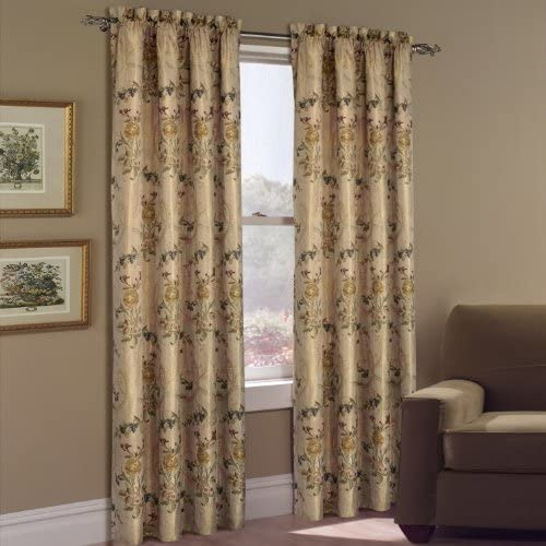 United Curtain Jewel Heavy Woven Window Curtain Panel, 54 by 84-Inch, Multi
