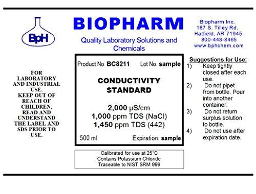Conductivity Calibration Standard 2-Pack 500 ml each 700 uS
