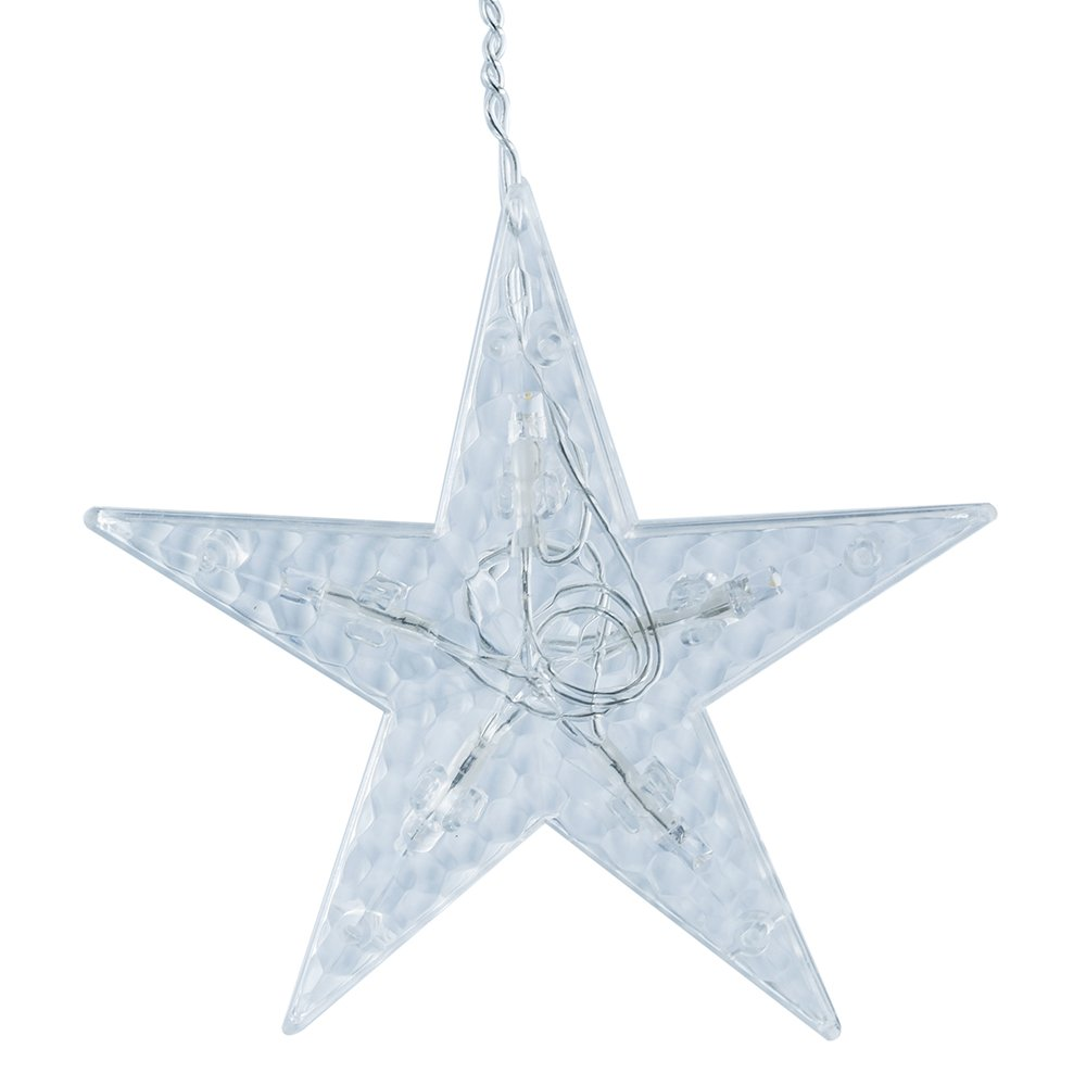BLOOMWIN LED Cortina Lámpara 220V 2m x 1m 138 LED 12 Estrellas Cortina de Luz Ventana Decoración para Fiesta Navidad Dormitorio Cortina de Luz LED Interiores/Exteriores [Clase de eficiencia energética A] XY004