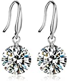 Yellow Chimes Elegant Latest Design Studded Crystal Stylish Party Wear Silver Plated Drop Earrings for Women and Girls