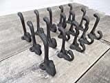 OutletBestSelling Beautiful Decoration 15 Cast Iron Black School Style Coat Hooks Hat Hook Hall Tree Restoration 3 1/4''
