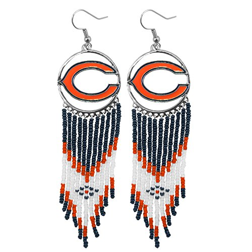 Chicago Bears Jewelry - Littlearth NFL Dreamcatcher Earrings (Chicago Bears)