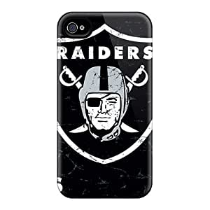 Cute Appearance Cover/tpu Itn2926NOcd Oakland Raiders Case For Iphone 4/4s