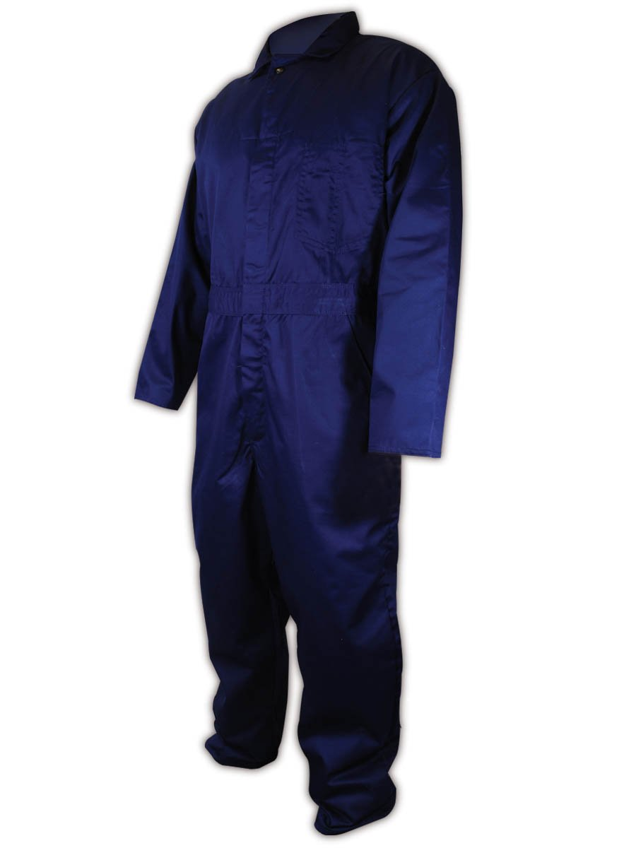 Magid N1540 A.R.C. Cotton Arc-Resistant Coverall, Mandarin Collar, Small, Navy Blue